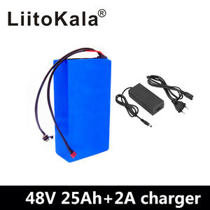 Liitokala 48V Battery BMS 25AH 2000W 2A Charger Built-In-50a