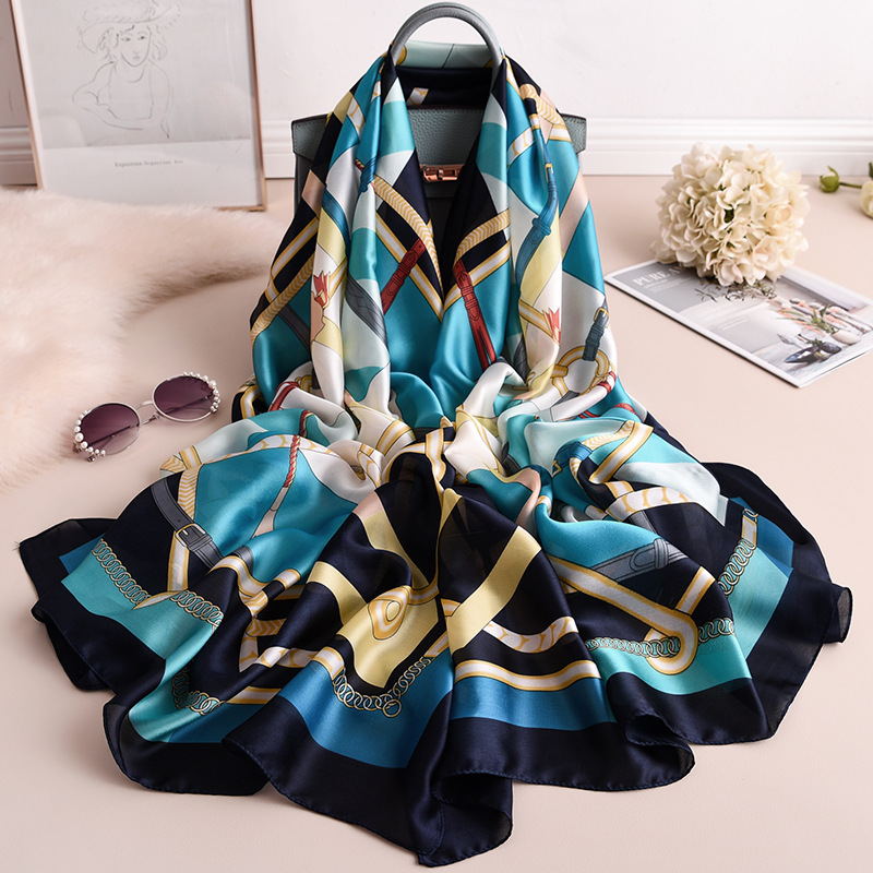 Silk Scarf Ladies Bandana Handkerchief For Women Hijab Fashionable Boho Foulard Femme Long Shawl Pashmina Scarves Chiffon Scarfs