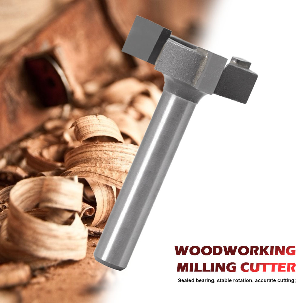 Hot Sale Milling Cutter 3-edge T-type Drawer Frame Panel Knife Router Bit Multifunction Durable Trimming Tools Supplies