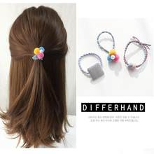 12Pcs/Set Girls Hair Rope Hairband Women Pearl Bow Ball High Elastic Rubber Bands Hairball Hair Ring Hair Accessories(China)