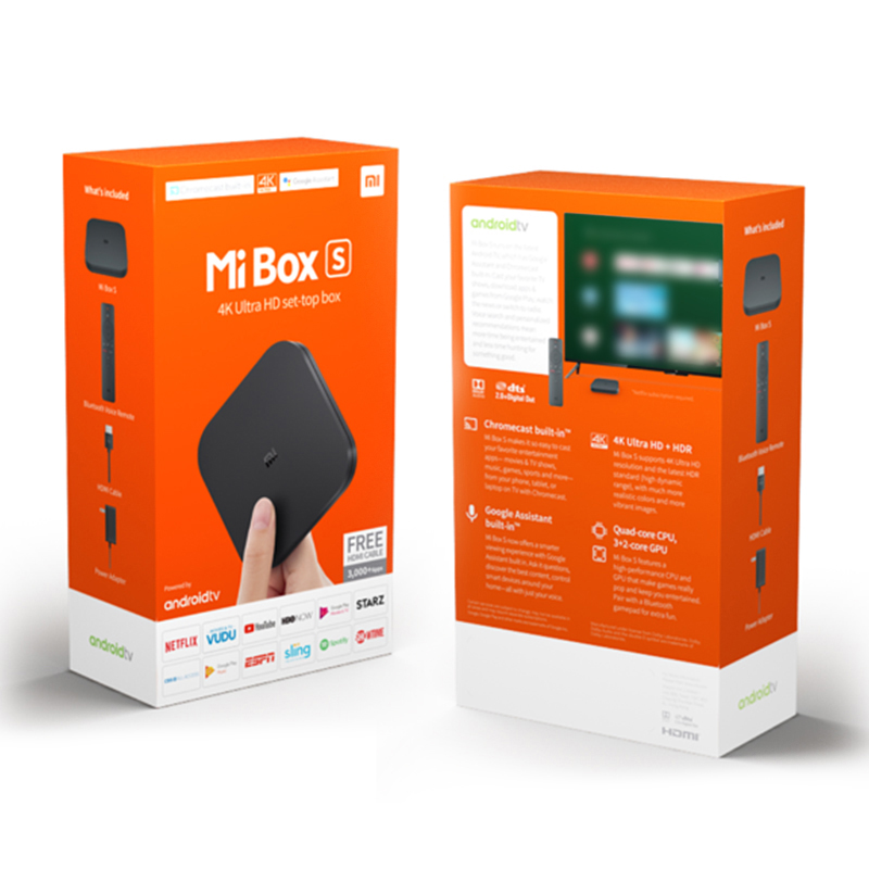 Globale Version Xiaomi Mi TV Box S 4K Ultra HD Android TV 9.0 HDR 2 - Heim-Audio und Video - Foto 6