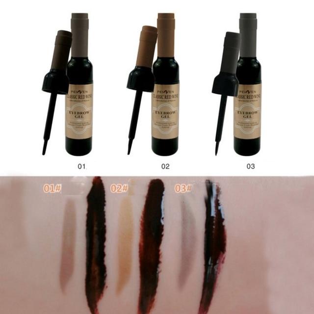 Classic  Eyebrow Gel Cream  Red Wine Tearing Eyebrow Gel Dyeing Eyebrow Cream Waterproof Anti-staining Lasting Makeup Enhancer 1