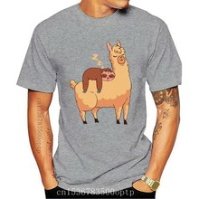 Sloth Riding Llama - Men'S Funny Illustrations T-Shirt Homme Plus Size Tee Shirt