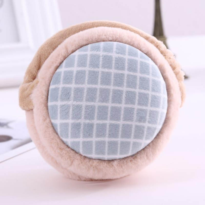 Calymel Hamburger Earmuffs Folding Lady's Warm Ear Bag Carries Winter Cold And Anti Freezing Plush Ear Protectors Gift