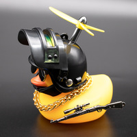 Car Interior Decoration Yellow Duck with Helmet for Bike Motor Accessories Without Lights Auto Car Accessories Duck In The Car 1