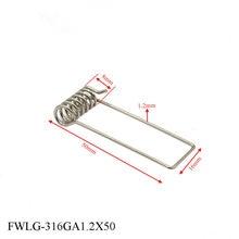 50 шт мм Длина Нержавеющая сталь 316 светильник Пружинные зажимы