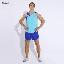 Спортивные костюмы для взрослых, настольный теннис, набор для бега, без рукавов для мужчин или женщин, костюм для бега, семейный спортивный к...
