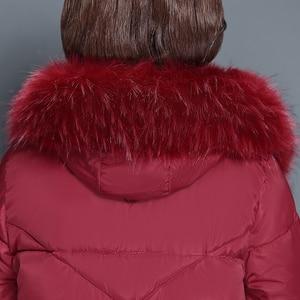 Image 5 - חורף מעיילי 2019 חם חורף מעילי ברדס פרווה צווארון עבה ארוך סעיף בגיל העמידה אמא חורף מעילי שלג מעיילי נקבה