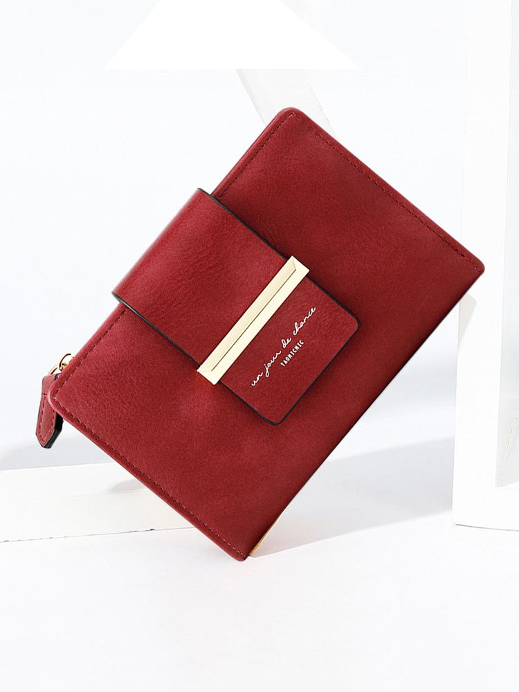APHISON Designer Womens Wallets Clutch Card Holder Embossed Clearance Leather Zipper Purse 004DMH-BROWN