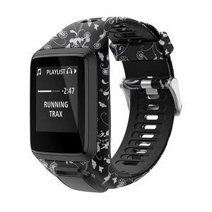 Image 2 - Haute qualité Silicone remplacement bracelet de montre bracelet pour TomTom Runner 2 3 étincelle 3 GPS Sport montre pour Tom Tom 2 3 série