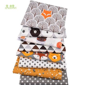 Chainho-lot de 8 pièces | Série animaux de la Jungle, tissu en coton sergé imprimé, tissu Patchwork, matériel de courtepointe à coudre pour bébé et enfant, bricolage
