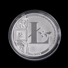 1 OZ Pure .999 Silver Plated 25 LTC Litecoin Vires in Numeris Medallion Coin(China)