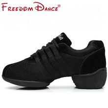 Taniec trampki dla kobiet dziewczyny sport taniec nowoczesny Jazz buty Lace Up lekkie oddech trenerzy Fitness buty do ćwiczeń