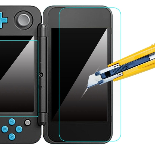 1 set Tempered Glass LCD Screen Protector for Nintendo New 2DS XL/LL 2DSXL/2DSLL
