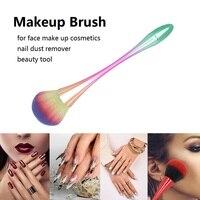 Brocha de fibras para maquillaje, pincel grande para base de maquillaje en polvo suave, colorete grande