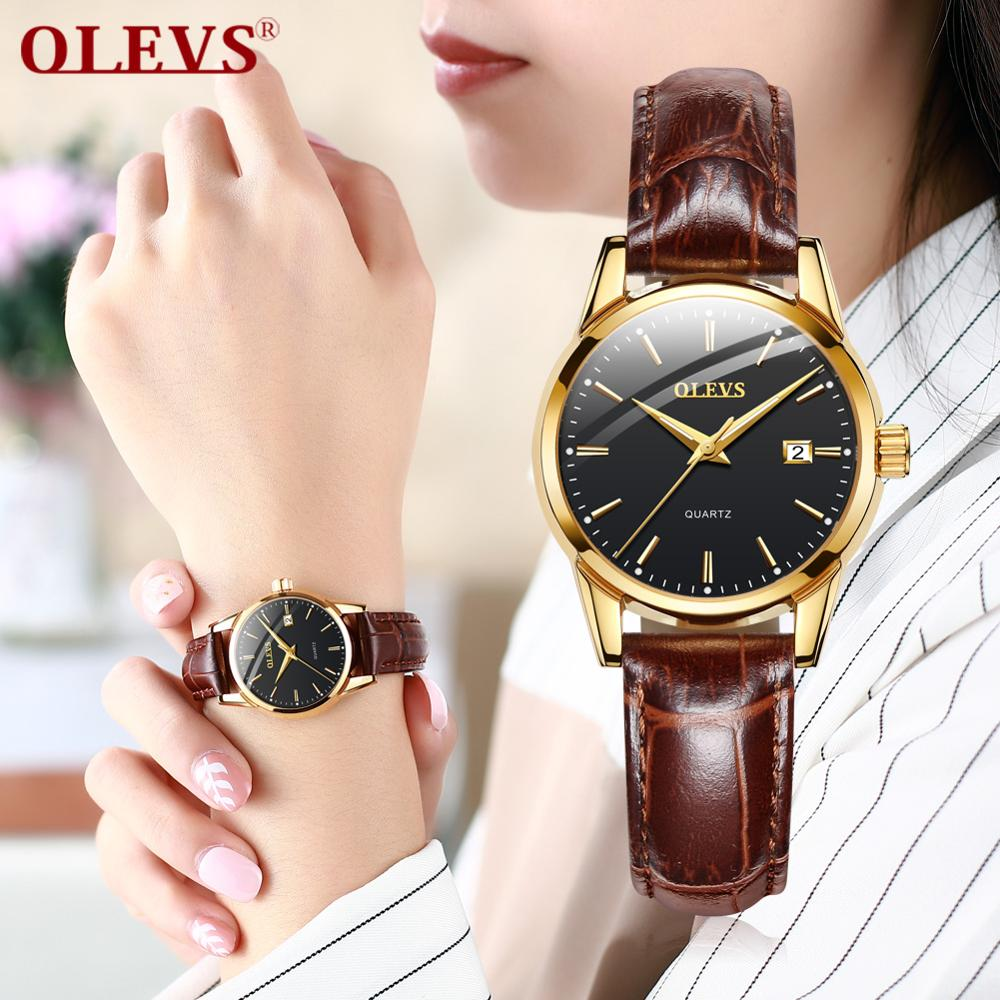 Luxury Women Watches Quartz Movement Date Calendar Casual Leather Waterproof Dress Luminous Ladies Watch Clock Relogio Feminino