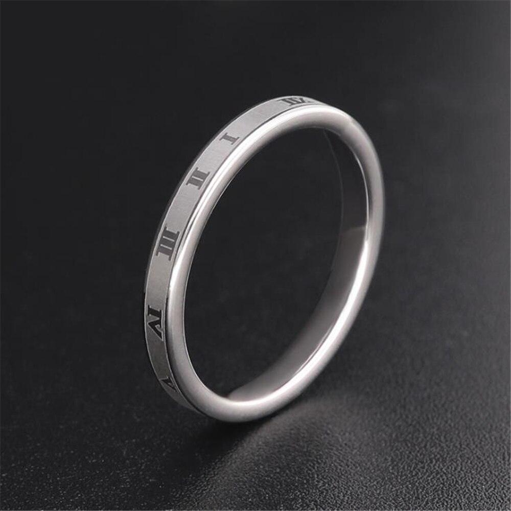 Loredana стильные часы для пары простые титановые стальные римские цифры тонкие кольца на палец для мужчин и женщин