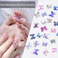 New Arrival Nail Supplies 2 Pcs/set Resin Butterfly Nail Art Decoration Manual Stereo Mini Manicure Butterfly Nails Accessories(China)