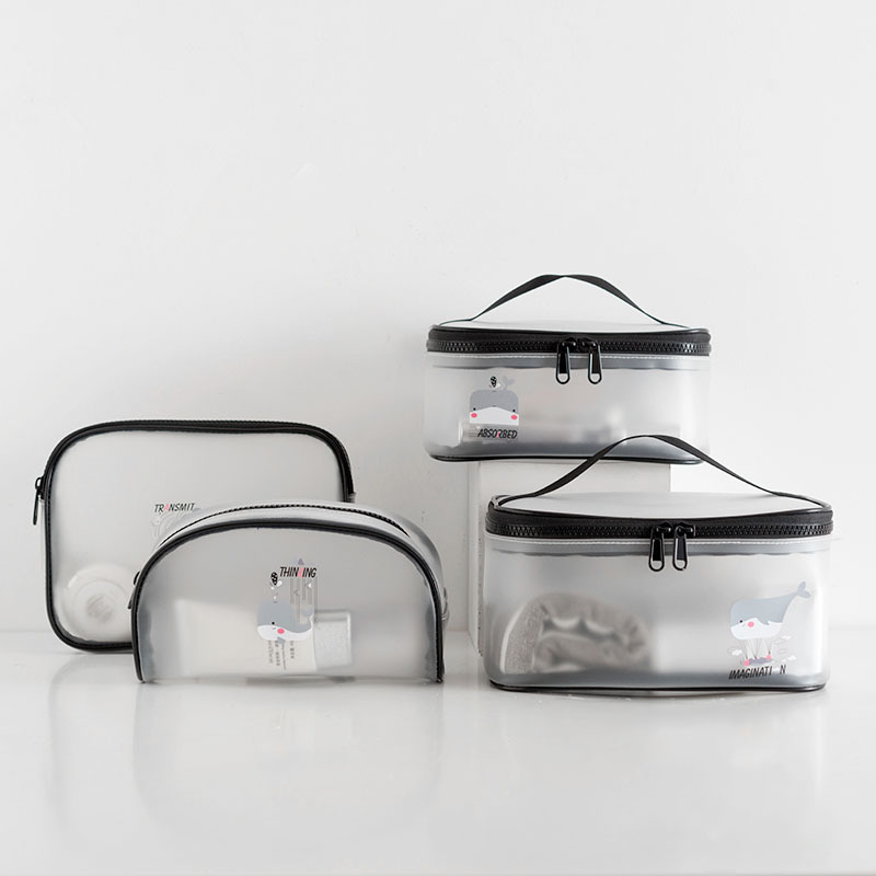 New Cosmetic Bag Clear Waterproof Packing cubes Transparent Toiletry Bags Makeup Organizer Case Wash bag