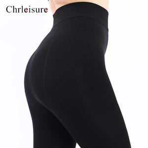 Image 4 - Large Size Womens High Waist Thick Velvet Legging 2019 Winter Warm Leggings Solid Push Up Leggings Women