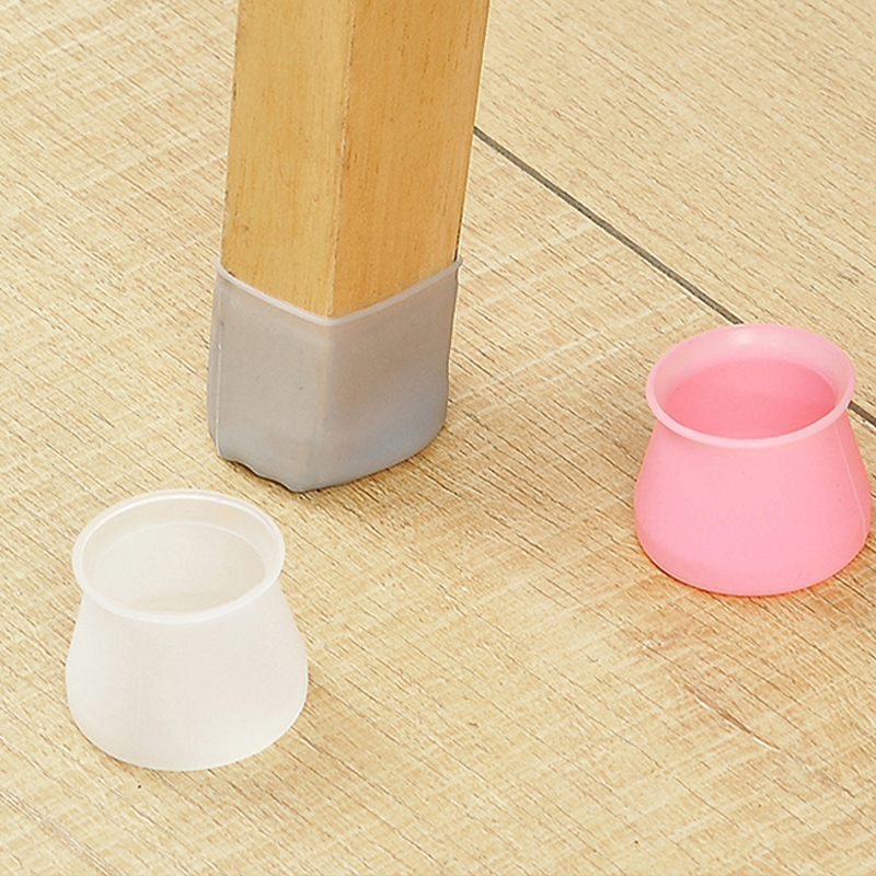 Furniture Table Chair Leg Floor Feet Cap Cover Protector Feet Pads Non-slip Table Chair Leg Caps Foot Protection Bottom Cover
