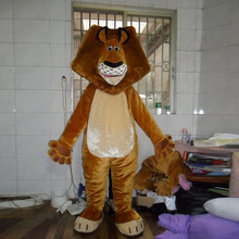 Friendly lion mascot costume adult wild animal male king carnival party set