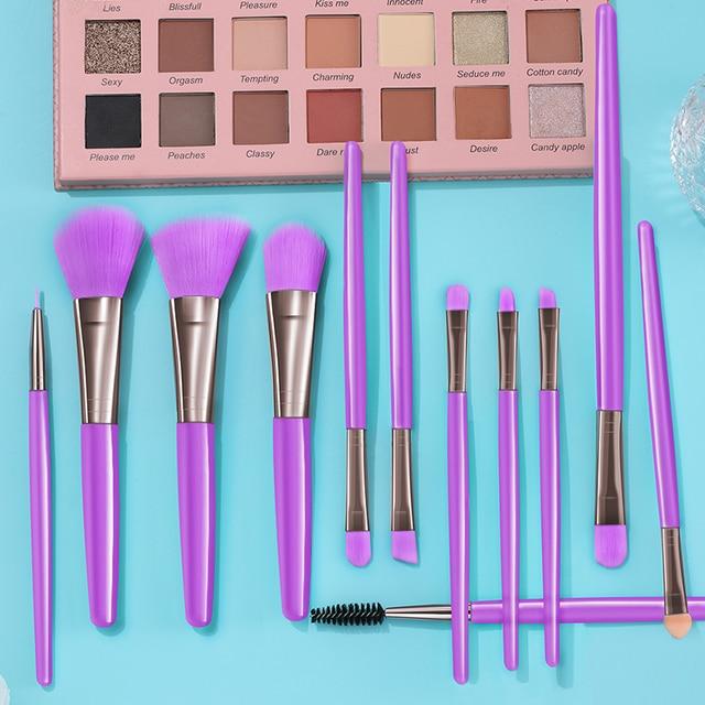 BANFI Blue Makeup Brushes Set Cosmetic Powder Solid Eye Shadow Foundation Blush Blending Beauty Tool Make Up Brush Maquiagem 5