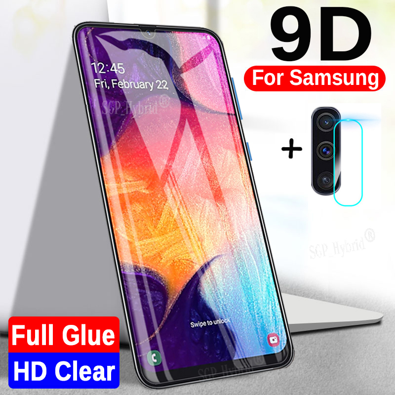 2-in-1 9D Protective <font><b>Glass</b></font> For <font><b>Samsung</b></font> A50 SM A505F Camera Screen Protector For <font><b>Samsung</b></font> Galaxy A40 A70 A30 <font><b>A</b></font> <font><b>50</b></font> Tempered <font><b>Glass</b></font> image