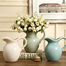 Nordic vase With handle ceramic vase decoration Single ear vase flower Water container flower vase for home wedding decoration