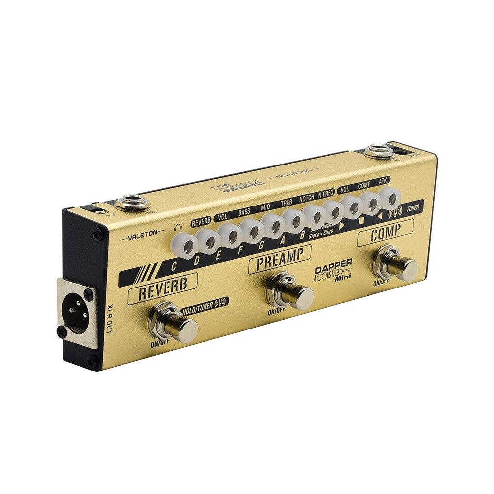 Valeton Dapper acoustique MINI effets bande accordeur Comp Preamp réveil cabine Sim Module guitare pédale pour joueurs acoustiques MES-4