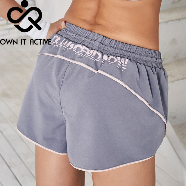 Summer Casual Shorts Letter Sports Shorts Femme Anti-going Gym Fitness Elastic Quick Dry Running Pants Fitness Loose Pants Women 3
