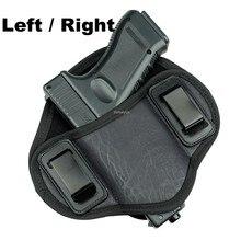 Funda de cinturón de pistola oculta, funda derecha o izquierda para pistolas pequeñas de tamaño medio para Glock 17 19 23 32 Beretta 92 Taurus