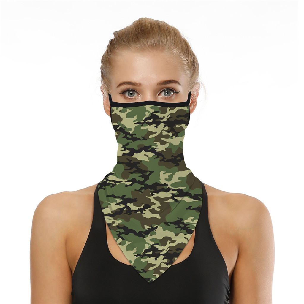 Hb454a4a7982e4ea88ab7e0d73559d916C Outdoor Camouflage Print Seamless Ear Face Cover Sports Washable Scarf Neck Tube Face Dust Riding Facemask Windproof Bandana