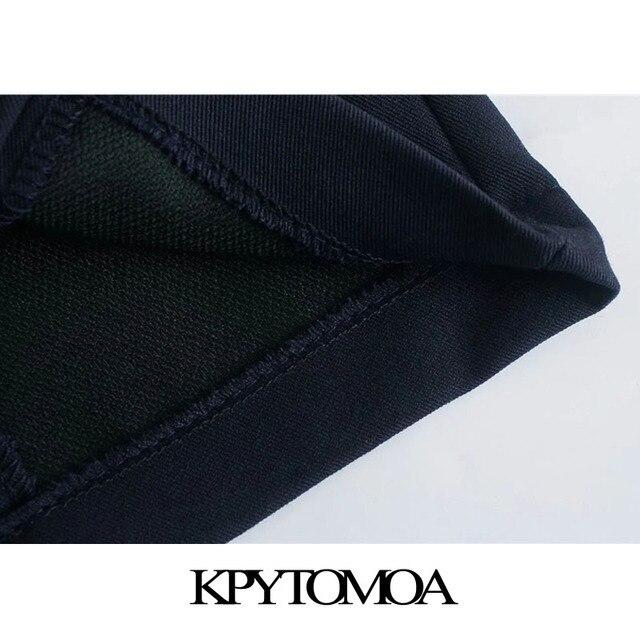 KPYTOMOA Women 2021 Chic Fashion With Metal Buttoned Bermuda Shorts Vintage High Waist Side Zipper Female Short Pants Mujer 6