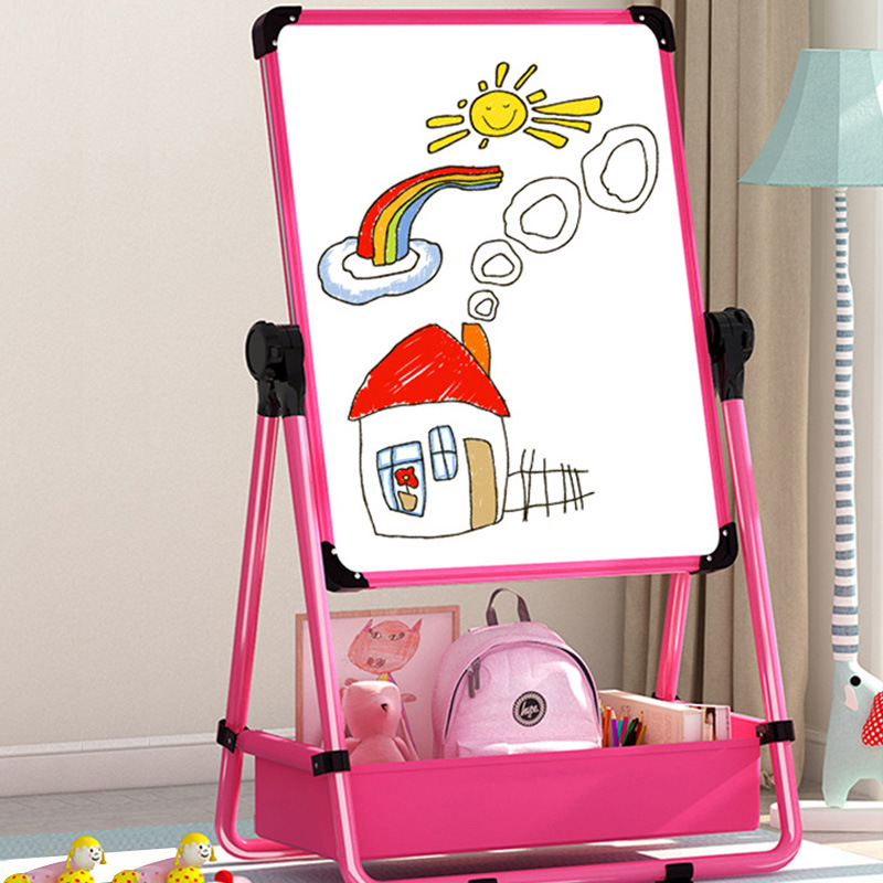 Children Baby Drawing Board Double-Sided Magnetic Small Blackboard Adjustable Easel Braced Household Whiteboard Graffiti Writing