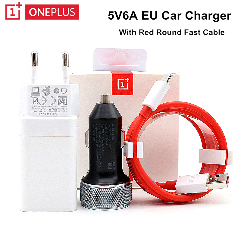 Original Oneplus EU Charger 5V4A car Dash charger For One plus 6T 5/5T/3/3T Dash Charge Adapter Dash 4A USB Charge Type C Cable 1