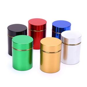 1 шт., контейнер с защитой от запаха, алюминиевая трава, металлическая герметичная банка, бутылки для чая, банки, коробки