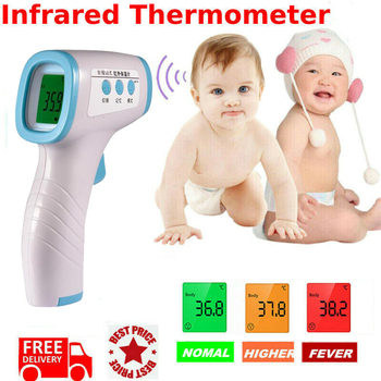 Dreamburgh Forehead Thermometer Non Contact LCD Digital Infrared Thermometer Body Temperature Fever Measure Tool for Baby Adult