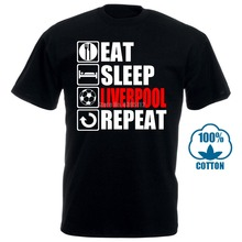 Eat Sleep Liverpool T-shirt - Funny Footballer Fan Christmas