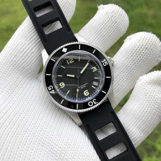 Часы наручные мужские из нержавеющей стали 316L с керамической рамкой, 300 м