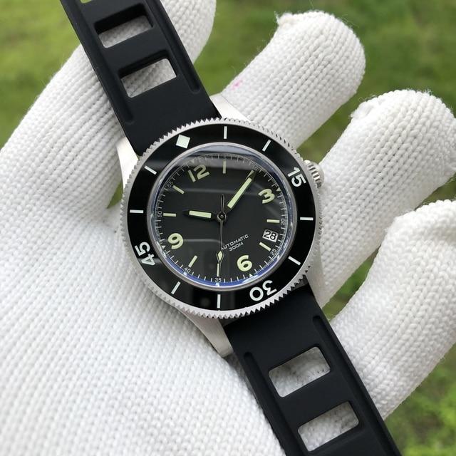 STEELDIVE 300M צלילה שעון 316L נירוסטה אוטומטי שעונים Mens 2019 קרמיקה לוח C3 סופר זוהר צלילה שעון 300m איש