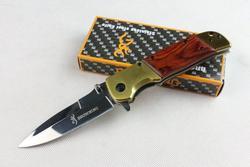 FreeeShipping Browning składany nóż narzędzia kempingowe 5Cr13Mov stal drewno + uchwyt ze stali nóż survivalowy noże taktyczne w Zewnętrzne narzędzia od Sport i rozrywka na
