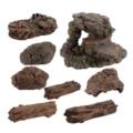 Szene Machen Stein Baum Trank Modell Diorama DIY Berg Rock Plattform Material Dinosaurier Welt Sand Tabelle Gebäude Layout