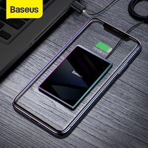 Image 1 - Baseus ultra cienka bezprzewodowa ładowarka do iPhone Xs Max XR 8 przenośna 15W szybka bezprzewodowa ładowarka do Huawei Mate 20 Pro P30 Pro