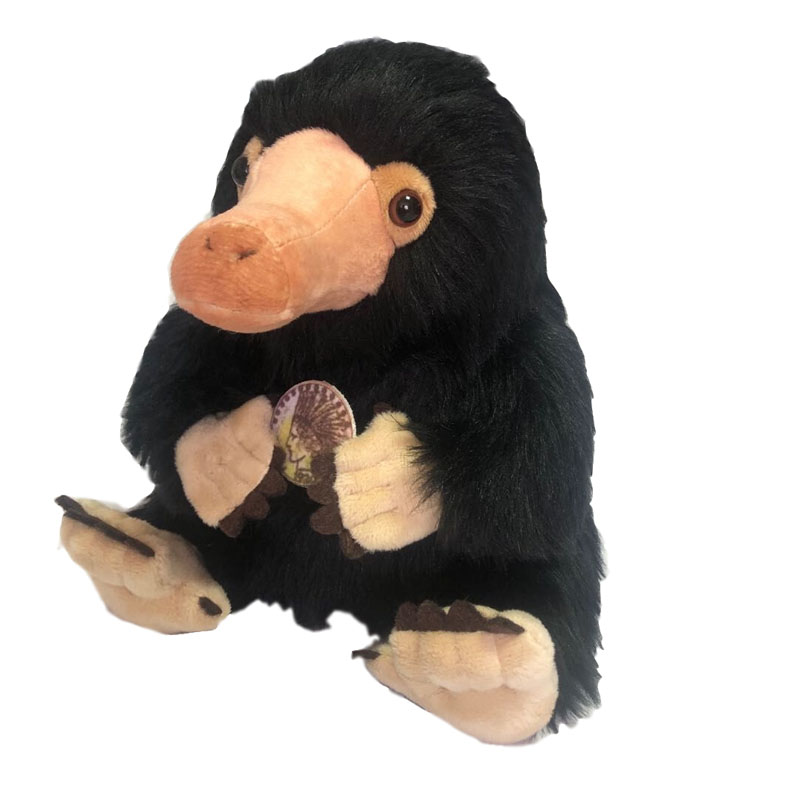 Fantastic Beasts and Where to Find Them Niffler Plush Toy Fluffy Black Duckbills Cute Soft Stuffed Animals 8'' 20 cm Kids Gift image