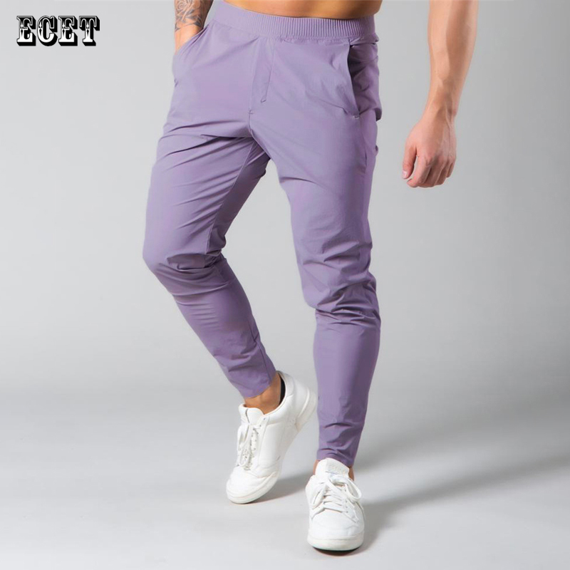 Summer men's trousers Lightweight quick-drying casual pants Joggers fitness running sports pants Fashion brand men's clothing