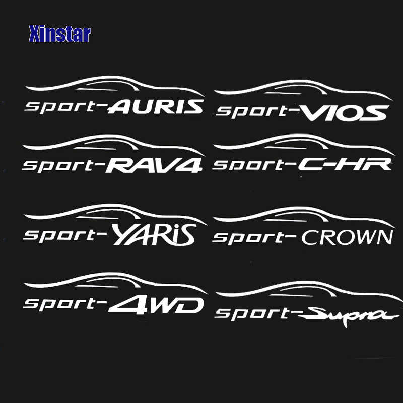 2pcs רכב windows מדבקות ויניל ספורט מדבקות מדבקות עבור טויוטה RAV4 יאריס 4WD כתר Auris Vios Supra