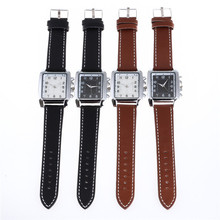 Beautifully minimalist fashion belt watch multicolor face dial square quartz watch personality with a watch