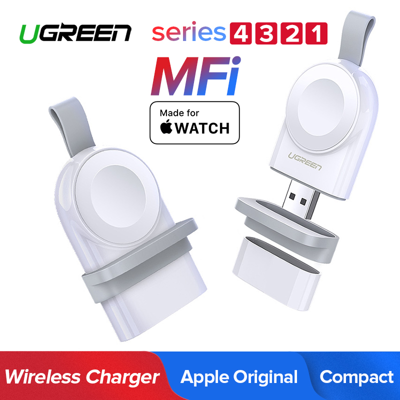 Ugreen Wireless Charger for Apple Watch Series 4 3 Portable Fast USB Charger 44/38mm No Charger Cable Magnetic Wireless Charging ugreen portable wireless charger for apple watch