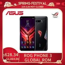 ASUS – téléphone portable ROG Phone 3 Global ROM Gaming, Smartphone de 12/16 go de RAM 128/256/512 go de ROM, mise à jour OTA, 6000mAh